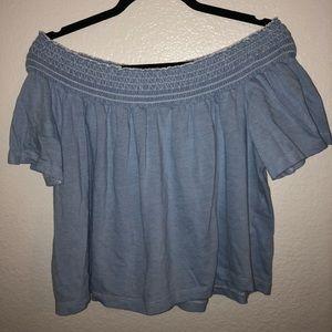 Zara || stripped off-the-shoulder top